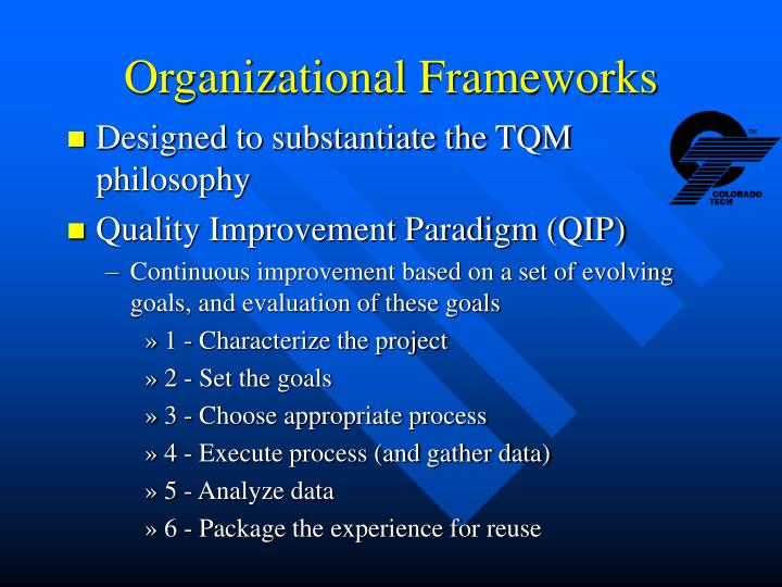 Organizational Frameworks