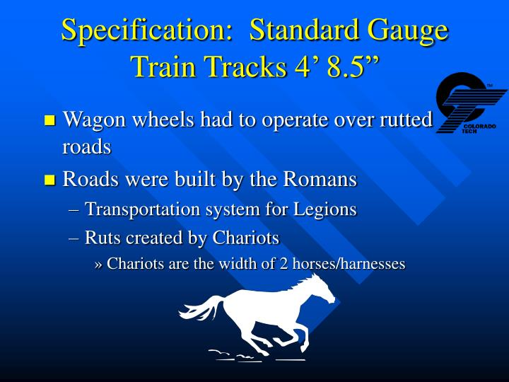 Specification:  Standard Gauge Train Tracks 4' 8.5""