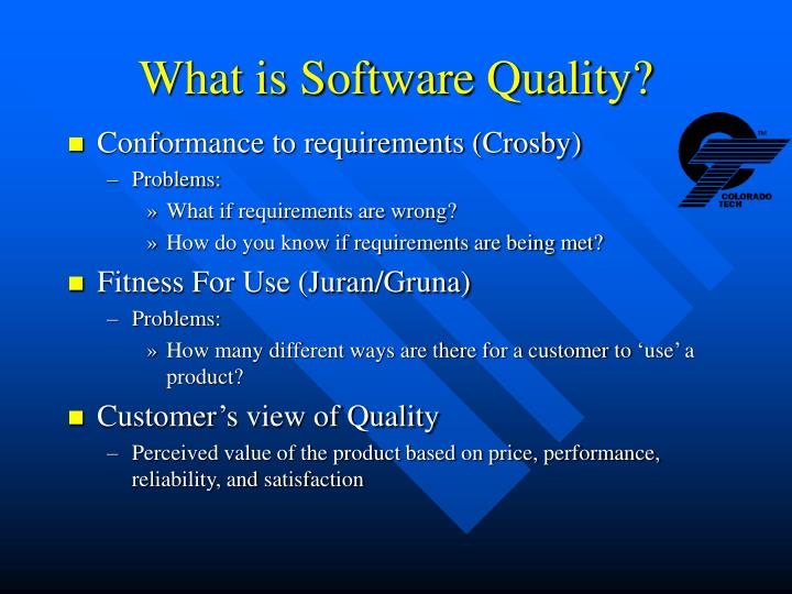 What is Software Quality?