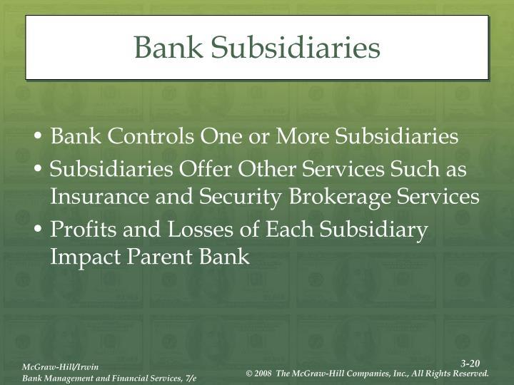 Bank Subsidiaries