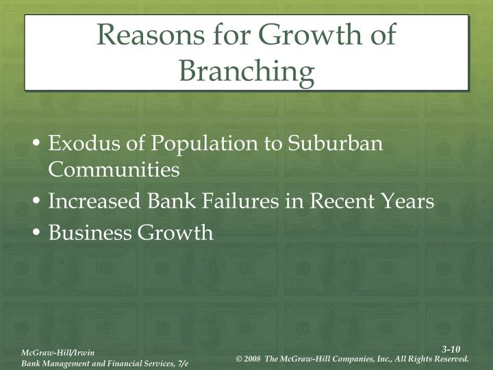 Reasons for Growth of Branching