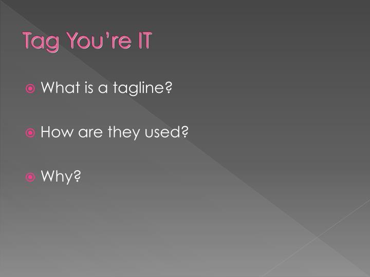 What is a tagline?