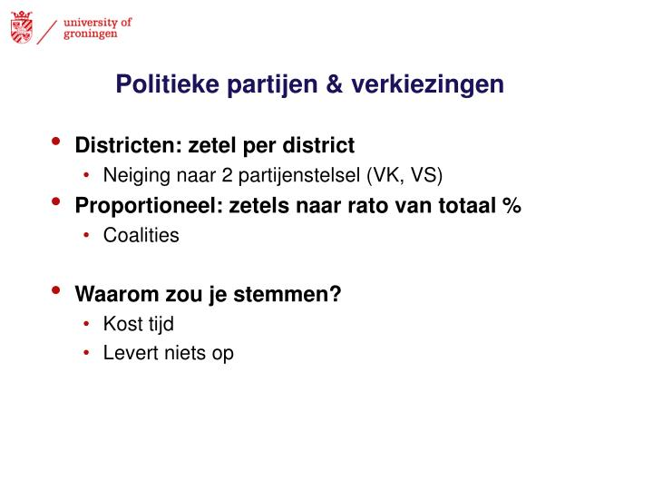 Politieke partijen & verkiezingen