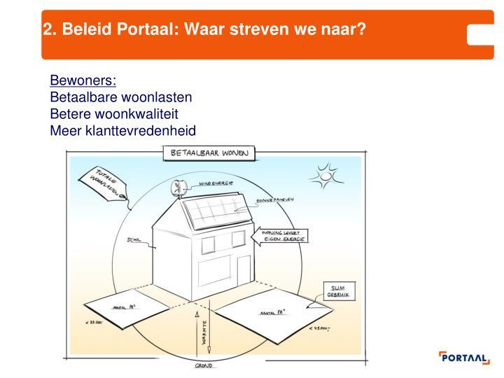 2. Beleid Portaal: Waar streven we naar?
