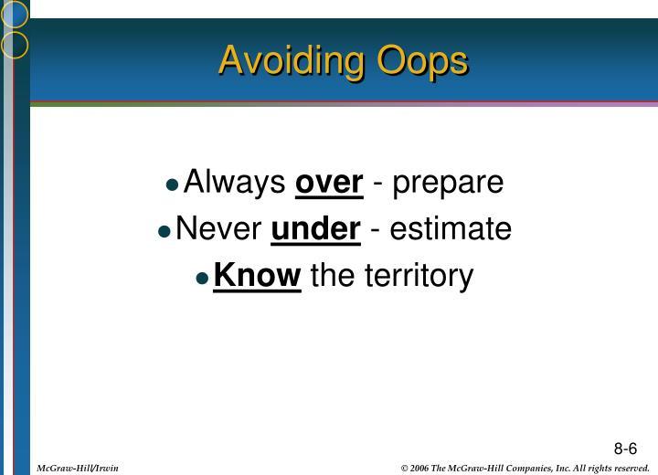 Avoiding Oops
