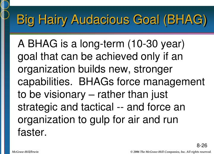 Big Hairy Audacious Goal (BHAG)