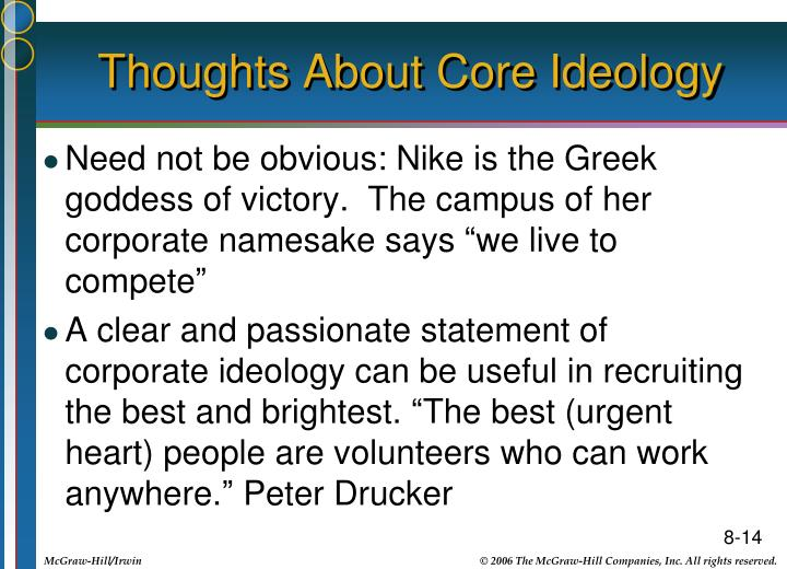 Thoughts About Core Ideology