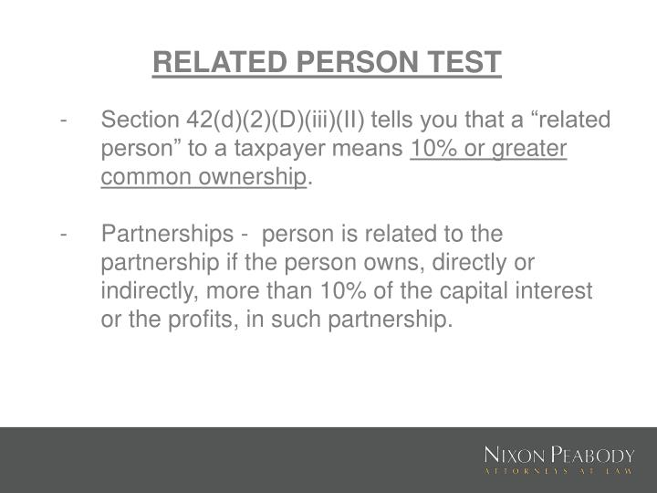 RELATED PERSON TEST