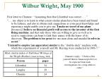 wilbur wright may 1900