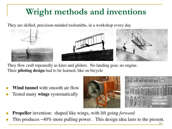 Wright methods and inventions