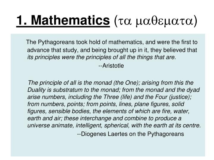 1. Mathematics