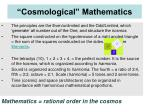 cosmological mathematics