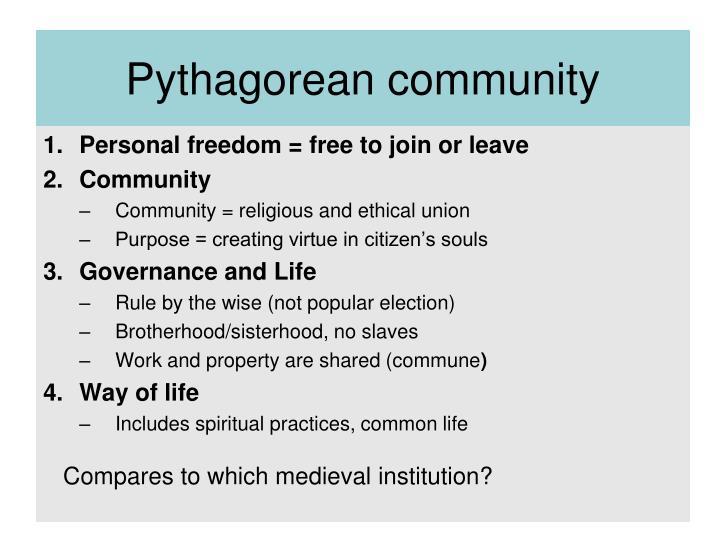 Pythagorean community