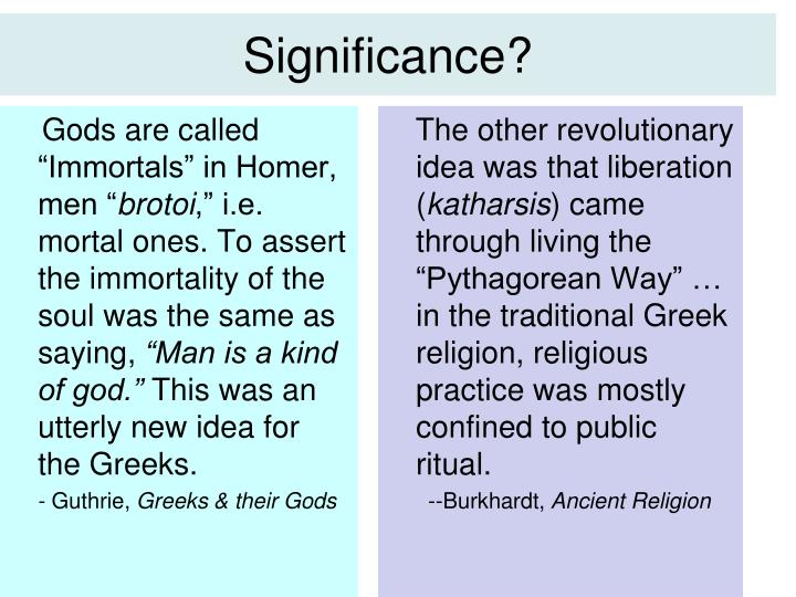 Significance?
