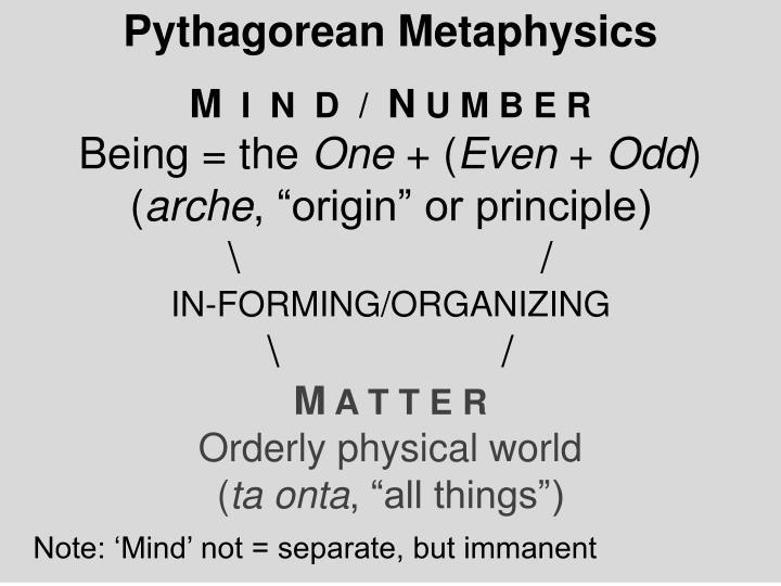 Pythagorean Metaphysics