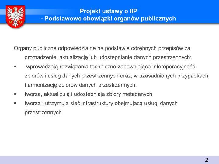 Projekt ustawy o IIP