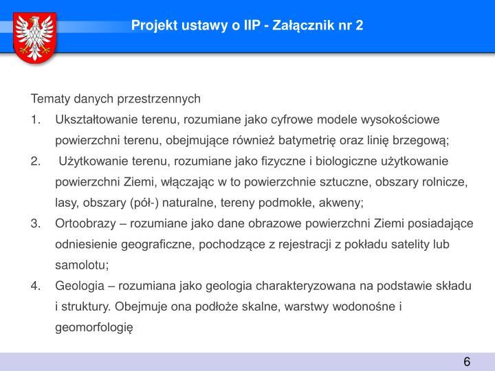 Projekt ustawy o IIP - Załącznik nr 2