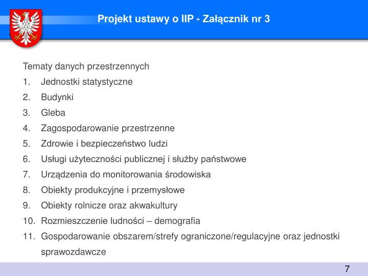 Projekt ustawy o IIP - Załącznik nr 3