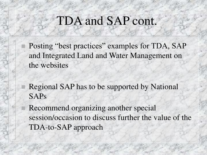 Tda and sap cont