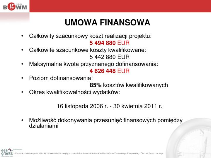 UMOWA FINANSOWA