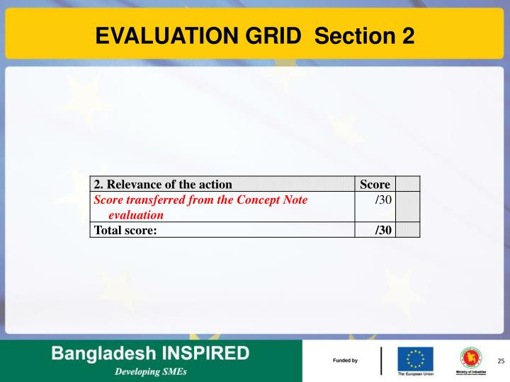 EVALUATION GRID  Section 2