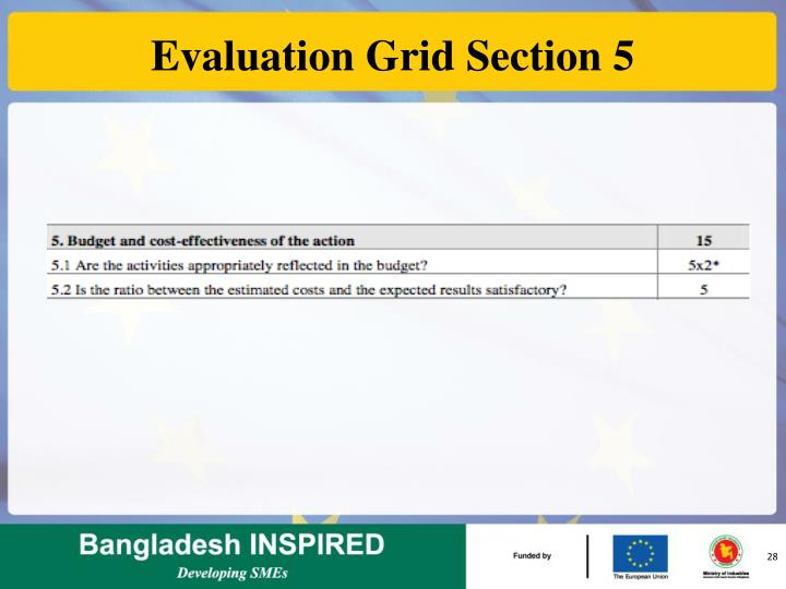 Evaluation Grid Section 5