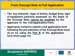 from concept note to full application