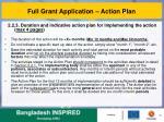 full grant application action plan