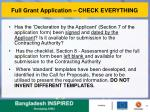 full grant application check everything