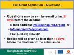 full grant application questions