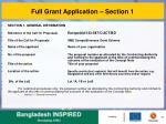full grant application section 1