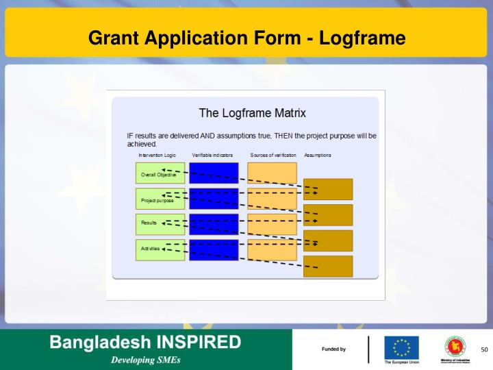 Grant Application Form - Logframe