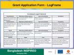 grant application form logframe1