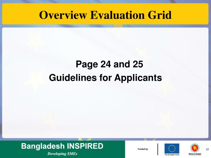 Overview Evaluation Grid