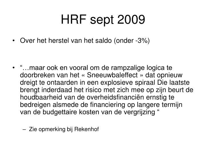 HRF sept 2009