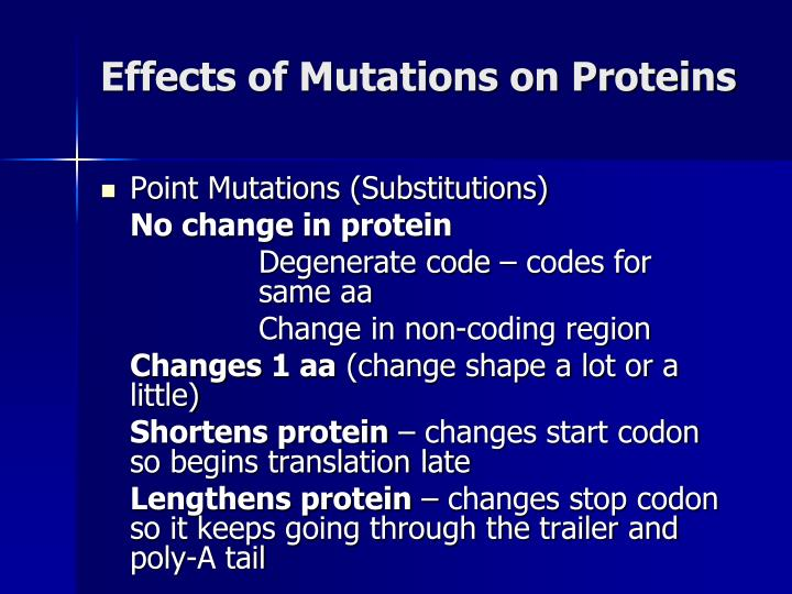 Effects of Mutations on Proteins