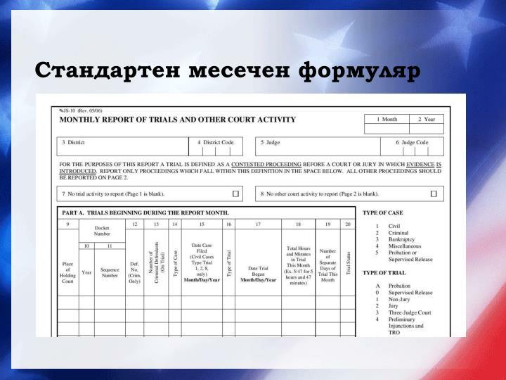 Стандартен месечен формуляр