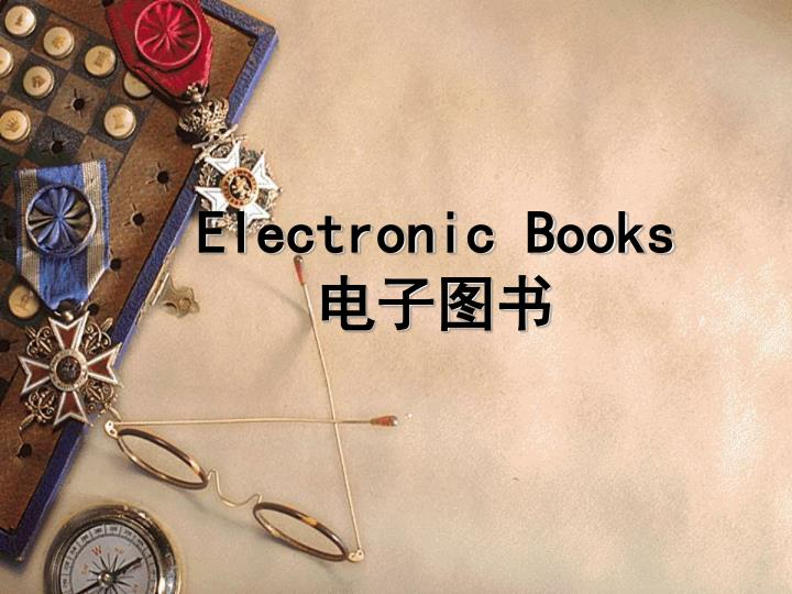 Electronic Books