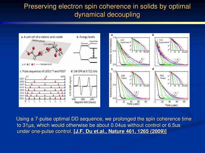 Preserving electron spin coherence in solids by optimal dynamical decoupling
