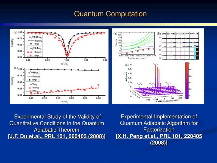 Quantum Computation