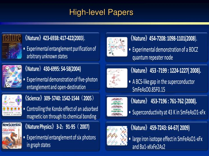 High-level Papers