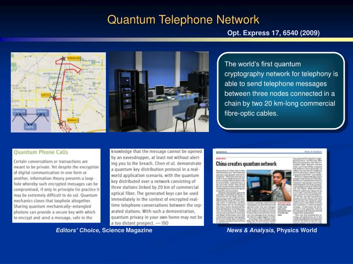 Quantum Telephone Network