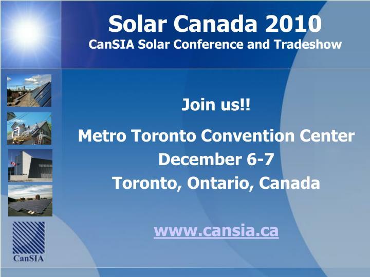 Solar Canada 2010