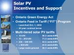 solar pv incentives and support