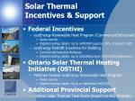 solar thermal incentives support