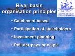 river basin organisation principles