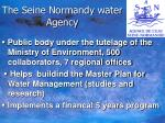 the seine normandy water agency