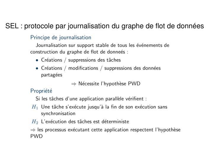 SEL : protocole par journalisation du graphe de flot de données