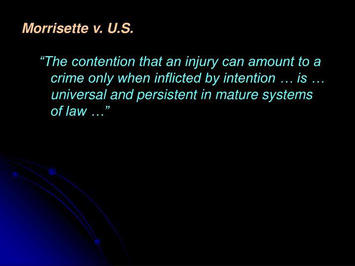 Morrisette v. U.S.