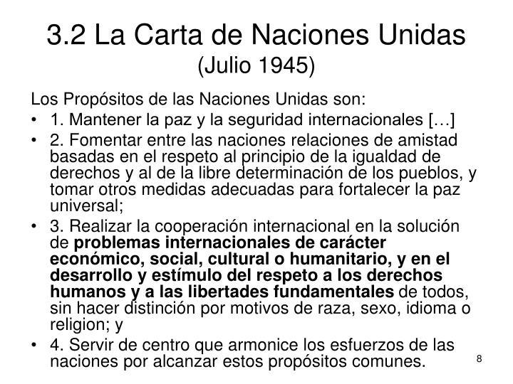 3.2 La Carta de Naciones Unidas